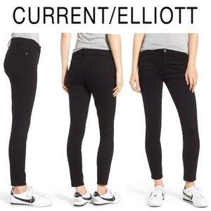 Current / Elliott The Stiletto Ankle Black Jeans